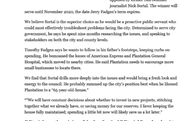 Sun-Sentinel and other endorsements!