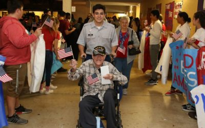 Cheer for war veterans at S. Plantation High Thursday