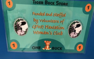Woman's Club minds the store at Plantation Elementary