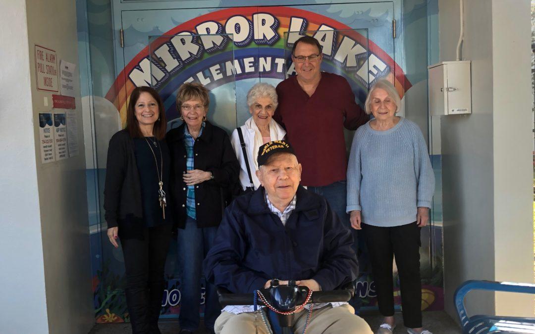 Senior volunteers brighten Mirror Lake